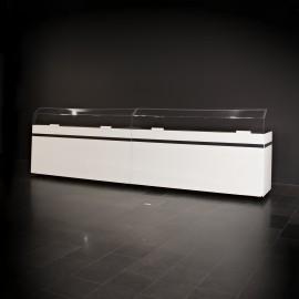 Buffetelement weiß mit Seitenteilen und Spuckschutz (Set)
